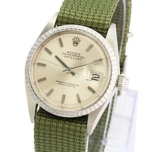 Rolex Mens Datejust Silver Dial 36mm Watch
